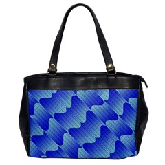 Gradient Blue Pinstripes Lines Office Handbags