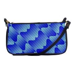 Gradient Blue Pinstripes Lines Shoulder Clutch Bags