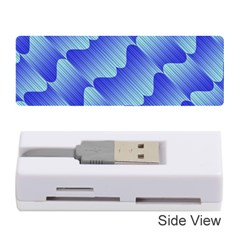 Gradient Blue Pinstripes Lines Memory Card Reader (stick)