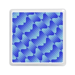 Gradient Blue Pinstripes Lines Memory Card Reader (square)