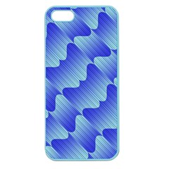 Gradient Blue Pinstripes Lines Apple Seamless Iphone 5 Case (color)