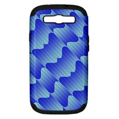 Gradient Blue Pinstripes Lines Samsung Galaxy S Iii Hardshell Case (pc+silicone)