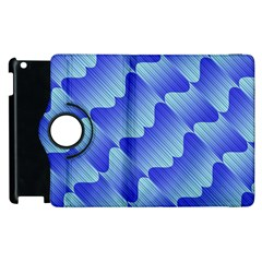 Gradient Blue Pinstripes Lines Apple Ipad 3/4 Flip 360 Case