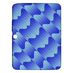 Gradient Blue Pinstripes Lines Samsung Galaxy Tab 3 (10 1 ) P5200 Hardshell Case
