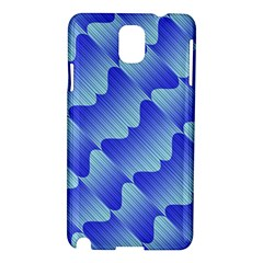 Gradient Blue Pinstripes Lines Samsung Galaxy Note 3 N9005 Hardshell Case