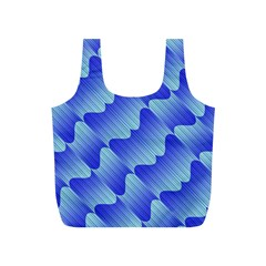 Gradient Blue Pinstripes Lines Full Print Recycle Bags (s)