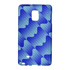 Gradient Blue Pinstripes Lines Galaxy Note Edge