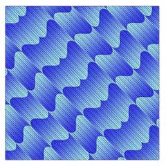 Gradient Blue Pinstripes Lines Large Satin Scarf (square)