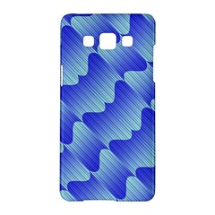 Gradient Blue Pinstripes Lines Samsung Galaxy A5 Hardshell Case