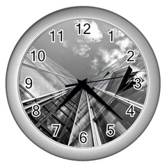Architecture Skyscraper Wall Clocks (silver)