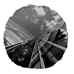 Architecture Skyscraper Large 18  Premium Round Cushions