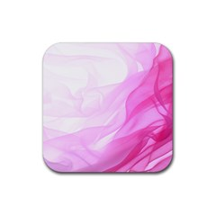 Material Ink Artistic Conception Rubber Square Coaster (4 Pack)