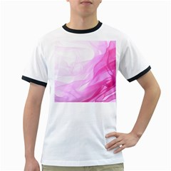 Material Ink Artistic Conception Ringer T Shirts