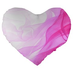 Material Ink Artistic Conception Large 19  Premium Heart Shape Cushions
