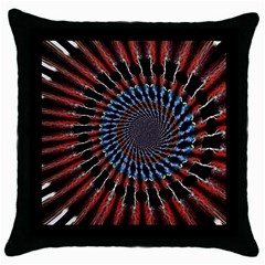 The Fourth Dimension Fractal Noise Throw Pillow Case (black)
