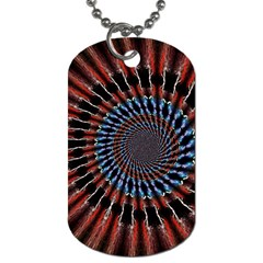 The Fourth Dimension Fractal Noise Dog Tag (two Sides)