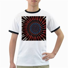The Fourth Dimension Fractal Noise Ringer T Shirts