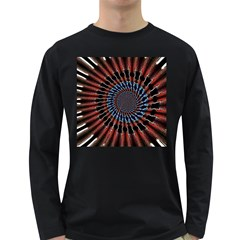 The Fourth Dimension Fractal Noise Long Sleeve Dark T Shirts