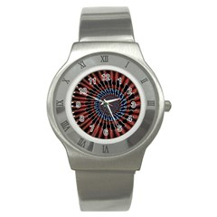 The Fourth Dimension Fractal Noise Stainless Steel Watch