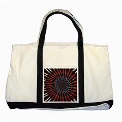 The Fourth Dimension Fractal Noise Two Tone Tote Bag
