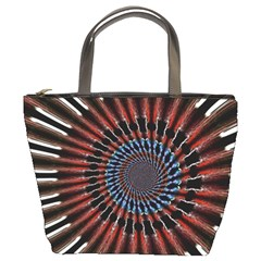 The Fourth Dimension Fractal Noise Bucket Bags
