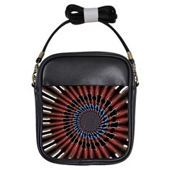 The Fourth Dimension Fractal Noise Girls Sling Bags