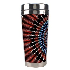 The Fourth Dimension Fractal Noise Stainless Steel Travel Tumblers