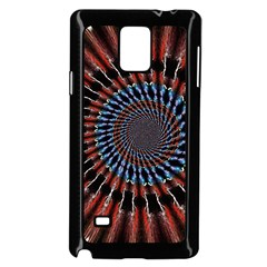 The Fourth Dimension Fractal Noise Samsung Galaxy Note 4 Case (black)