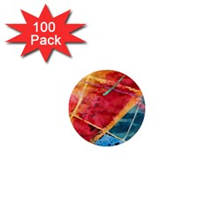 Painting Watercolor Wax Stains Red 1  Mini Magnets (100 Pack)
