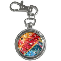Painting Watercolor Wax Stains Red Key Chain Watches