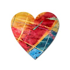 Painting Watercolor Wax Stains Red Heart Magnet