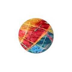 Painting Watercolor Wax Stains Red Golf Ball Marker