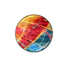 Painting Watercolor Wax Stains Red Hat Clip Ball Marker