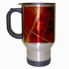 Painting Watercolor Wax Stains Red Travel Mug (silver Gray)