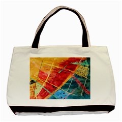 Painting Watercolor Wax Stains Red Basic Tote Bag