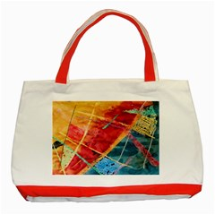 Painting Watercolor Wax Stains Red Classic Tote Bag (red)