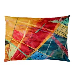 Painting Watercolor Wax Stains Red Pillow Case