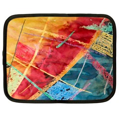 Painting Watercolor Wax Stains Red Netbook Case (xxl)