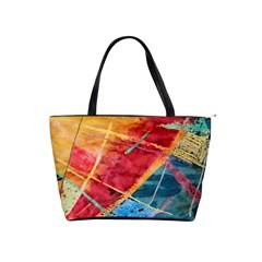 Painting Watercolor Wax Stains Red Shoulder Handbags