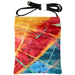 Painting Watercolor Wax Stains Red Shoulder Sling Bags