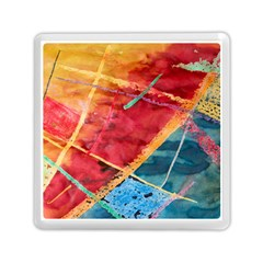 Painting Watercolor Wax Stains Red Memory Card Reader (square)