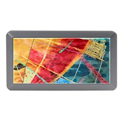 Painting Watercolor Wax Stains Red Memory Card Reader (mini)