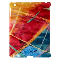 Painting Watercolor Wax Stains Red Apple Ipad 3/4 Hardshell Case (compatible With Smart Cover)