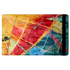 Painting Watercolor Wax Stains Red Apple Ipad 3/4 Flip Case