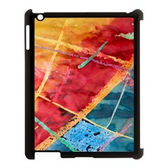 Painting Watercolor Wax Stains Red Apple Ipad 3/4 Case (black)