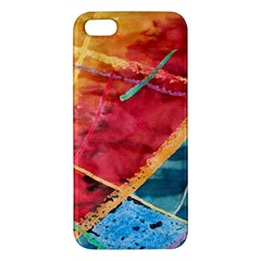 Painting Watercolor Wax Stains Red Apple Iphone 5 Premium Hardshell Case