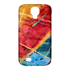 Painting Watercolor Wax Stains Red Samsung Galaxy S4 Classic Hardshell Case (pc+silicone)