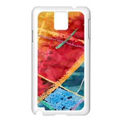 Painting Watercolor Wax Stains Red Samsung Galaxy Note 3 N9005 Case (white)