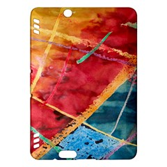 Painting Watercolor Wax Stains Red Kindle Fire Hdx Hardshell Case
