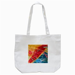 Painting Watercolor Wax Stains Red Tote Bag (white)